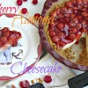 Cherry Almond Cheesecake #FoodieFriday