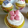 Spring Cupcakes with Strawberry Curd Filling