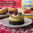 Raspberry Marbled Mini Cheesecakes #Moms4JNJConsumer #ad