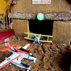DIY Gingerbread Planes Hangar