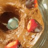 Chocolate Covered Strawberry Rhubarb Bundt Cake
