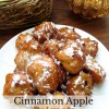 Cinnamon Apple Beignets with Caramel Sauce