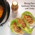 Slow Cooker Kung Pao Lettuce Wraps with Turkey