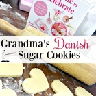 Grandma's Danish Sugar Cookies