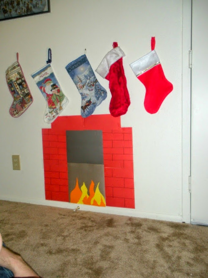 Despite modest living conditions, a little creativity is all it takes to bring a chimney to life for the holidays.