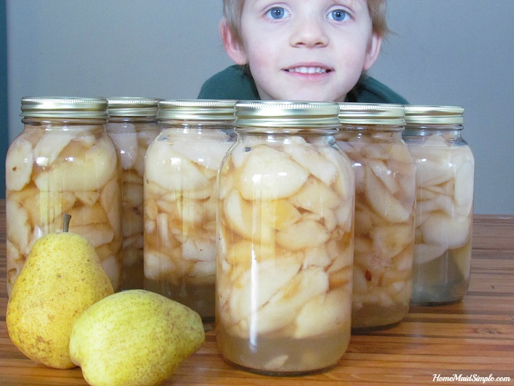 kids love home canned pears!