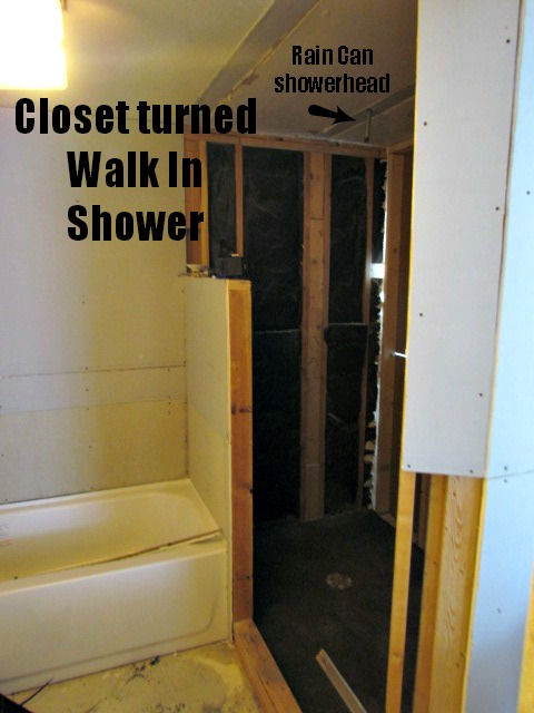 Transform Closet Into Bathroom Shower Roselawnlutheran