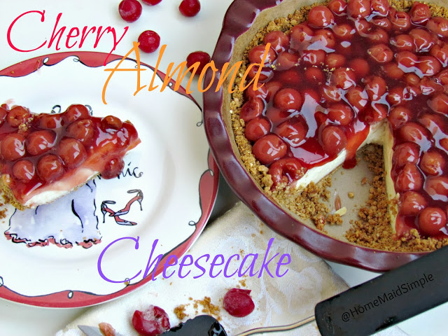 Cherry Almond Cheesecake.
