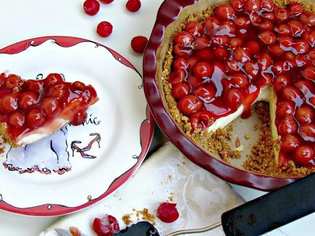 Cherry Almond Cheesecake - so delicious!