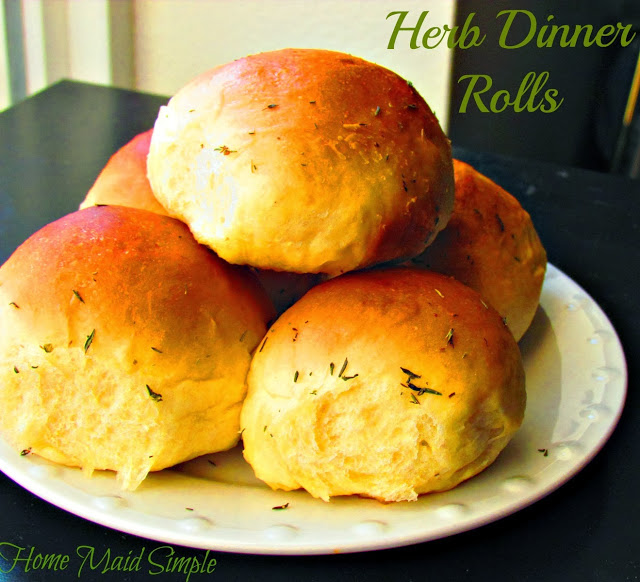 Herb Dinner Rolls with #STAROliveOil ad