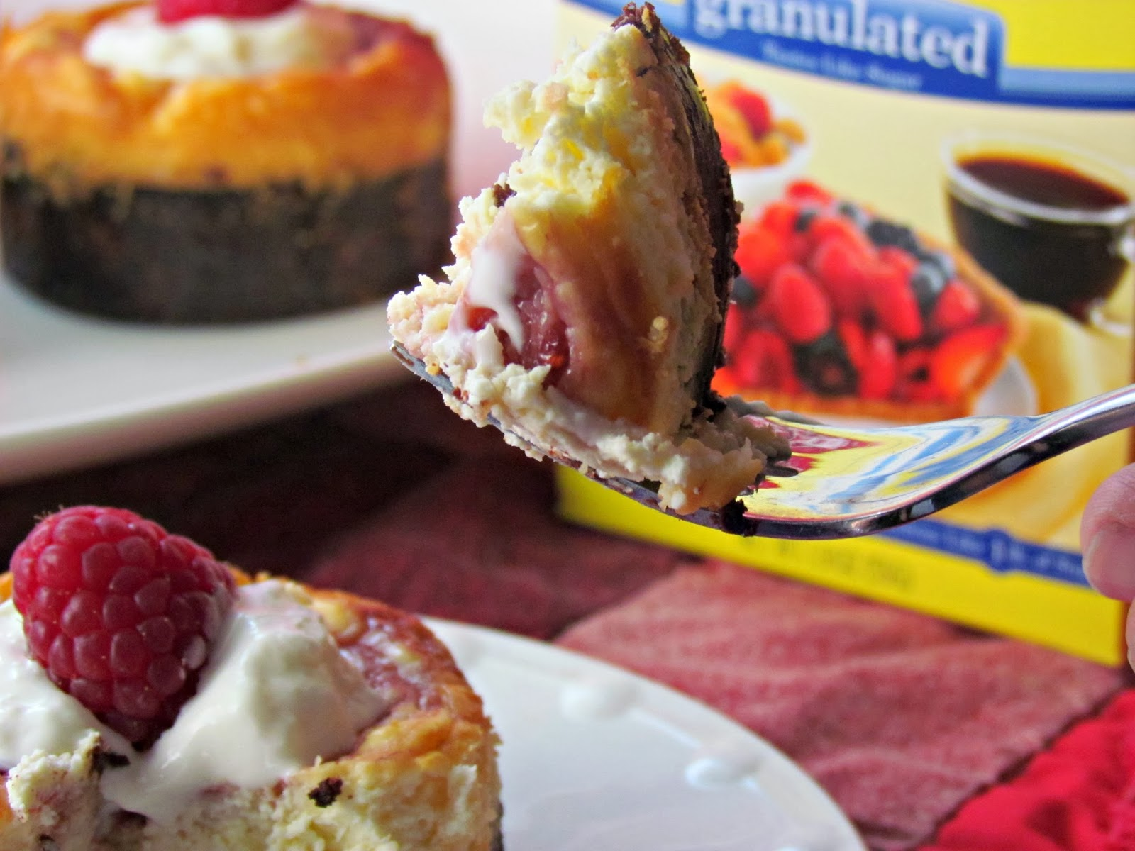 Raspberry Marbled Mini Cheesecakes #Moms4JNJConsumer #ad - Home Maid ...