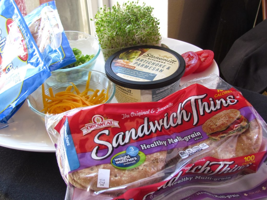 Sandiwch thins Sandwich prep