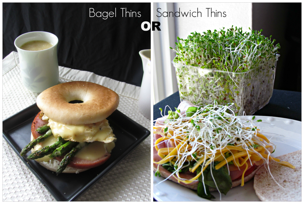 Oscar Eggs Benedict or Sandwich Thins with sprouts