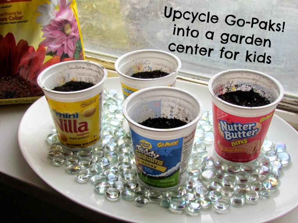 Upcycled Garden Center for kids