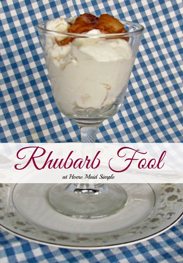 Rhubarb Fool. Food of the World Party - UK edition