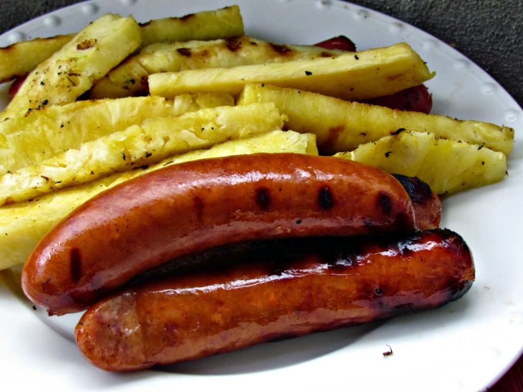 Grilled Sausage and Pineapple #AmericanCraft #StartYourGrill #shop #cbias