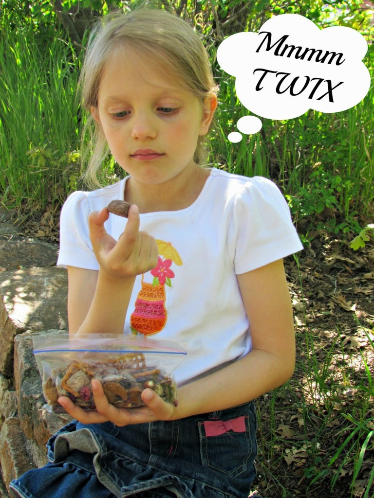 Enjoying some TWIX Bites Trail Mix after a hike #EatMoreBites #shop #cbias