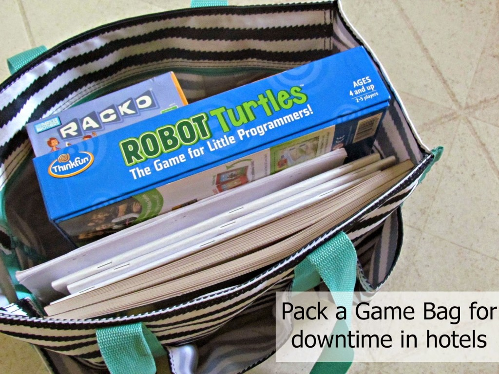 Pack Robot Turtles in your game bag for nights at a hotel