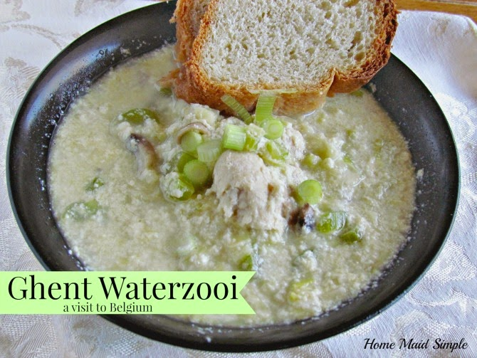 Ghent Waterzooi - a Belgian chicken stew