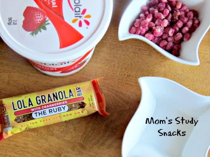 Lola Granola. Study snacks