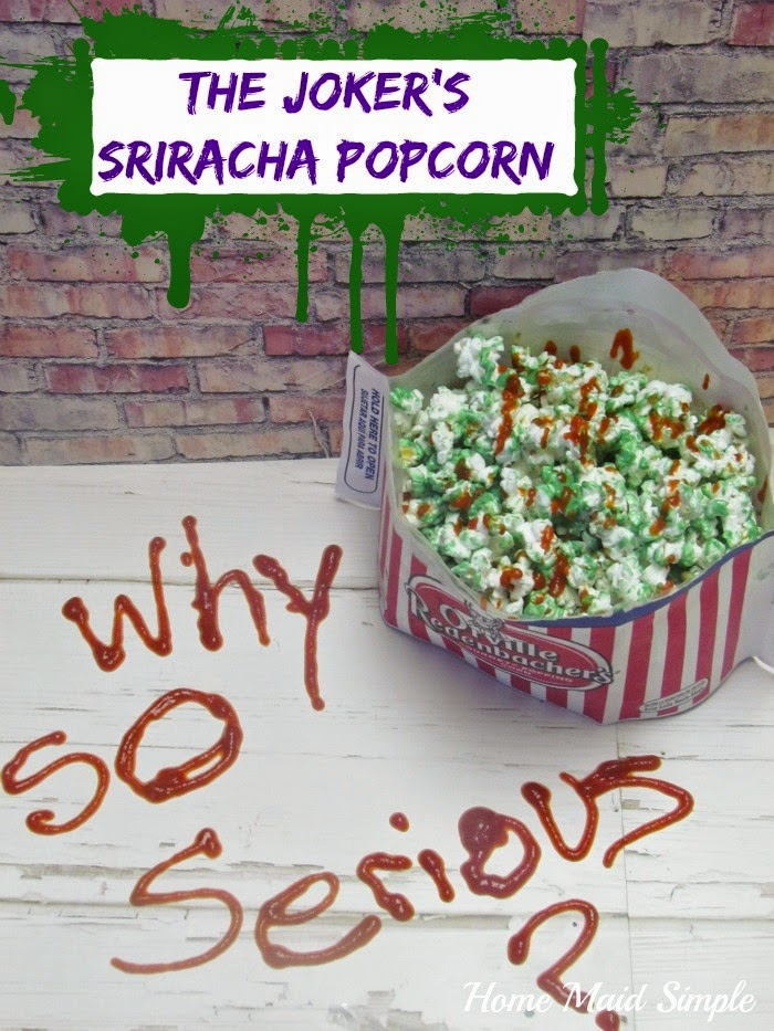 The Jokers Sriracha Popcorn #MovieNight4Less #ad
