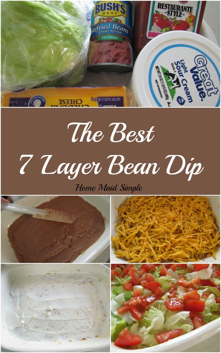 The best 7 Layer Bean Dip. Perfect for Game Day!