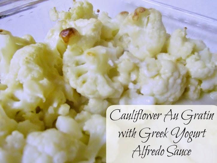Cauliflower Au Gratin with Greek Yogurt Alfredo Sauce