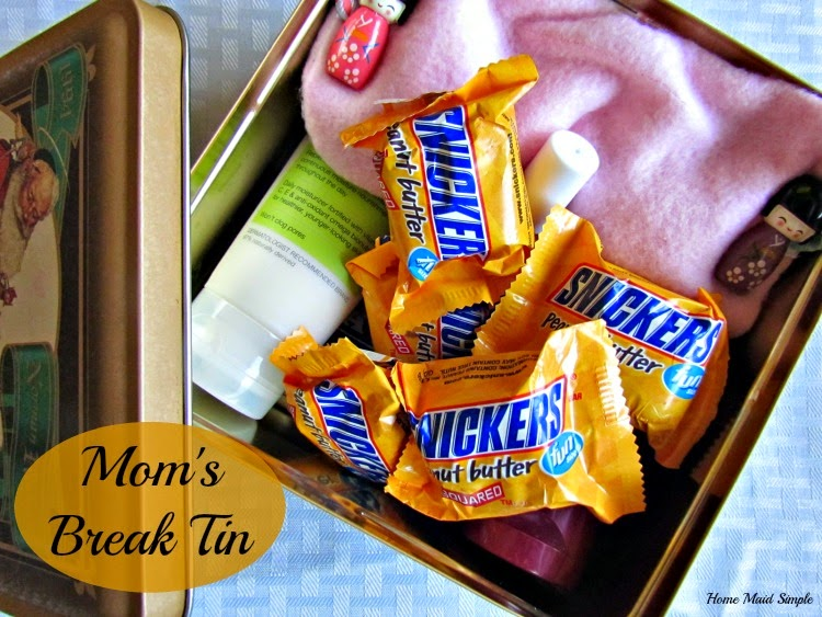 Give Mom a Break! Combine SNICKERS® and her favorite things in a tin for days she needs a break. ##WhenImHungry #Ad