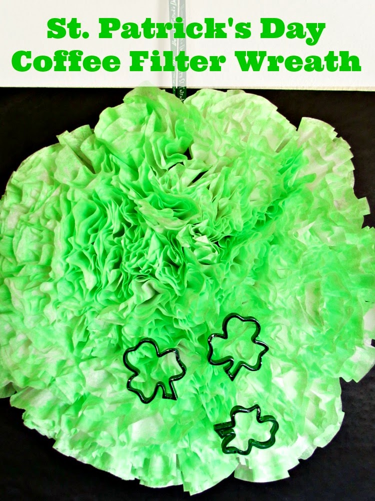 St Patricks Coffee Filter Wreath