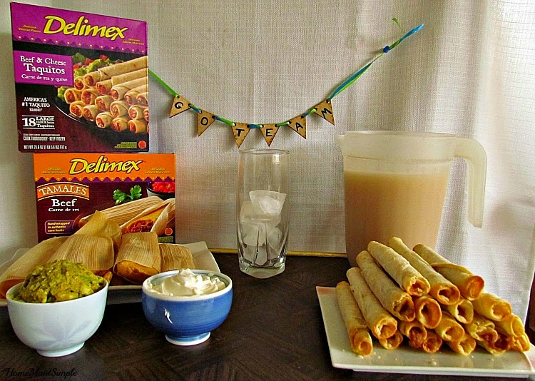 Have a #DelimexFiesta with Taquitos, Tamales and homemade Horchata #Ad