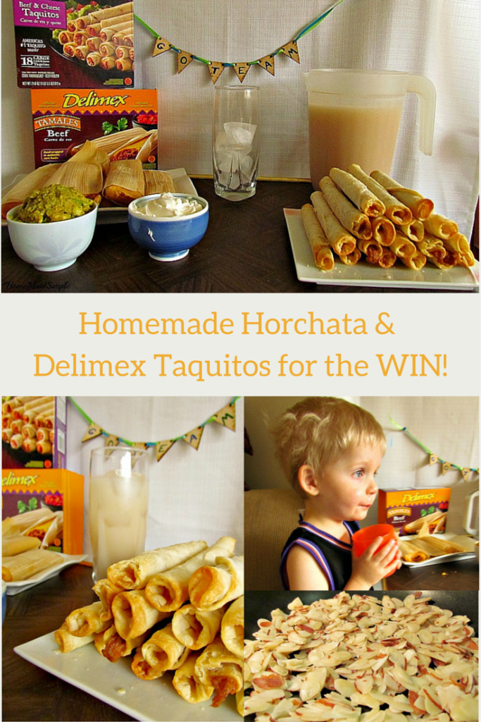 Homemade Horchata and Delimex Taquitos for the WIN! #DelimexFiesta #Ad