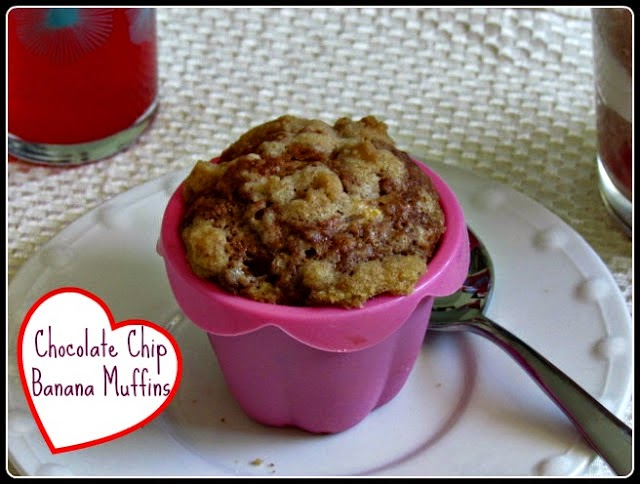 Chocolate Chip Banana Muffins for a ready to eat Daylight Savings Time breakfast.