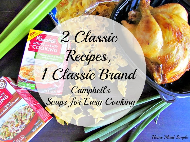 2 Classic Recipes, 1 Classic Brand! Get the recipes for Chicken Noodle Soup and Portobello Mushroom Beef Stroganoff with Campbells Soups for Easy Cooking #WeekNightHero #Ad