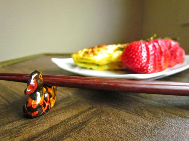 Korean Egg Rolls. Duck Chopstick Holder