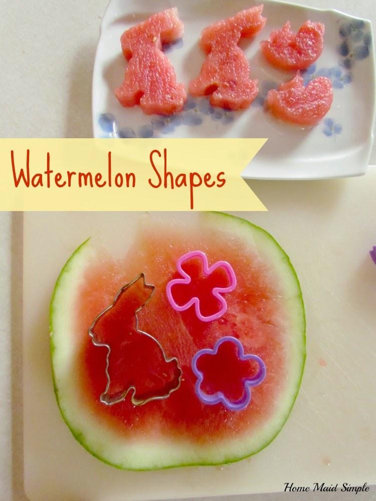 Tea Party Watermelon shapes