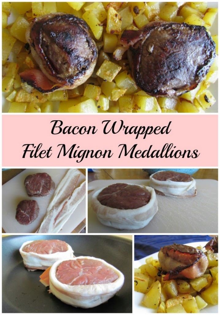 Bacon Wraped Filet Mignon Medallions