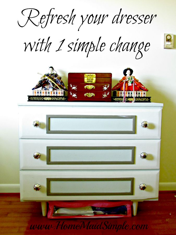 Refinish a dresser with 1 simple change