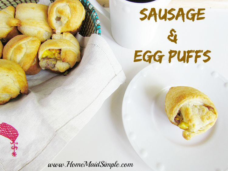 Sausage and Egg Puffs #backtoschoolbreakfast ad