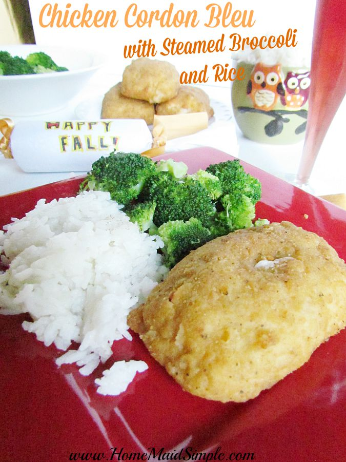 Celebrate Fall With New Barber Foods Chicken Cordon Bleu Home Maid