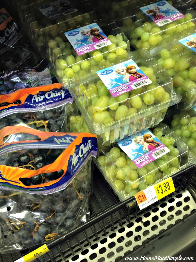 FROZEN Grapes can be found at Walmart #DisneyFROZENGoesFresh ad