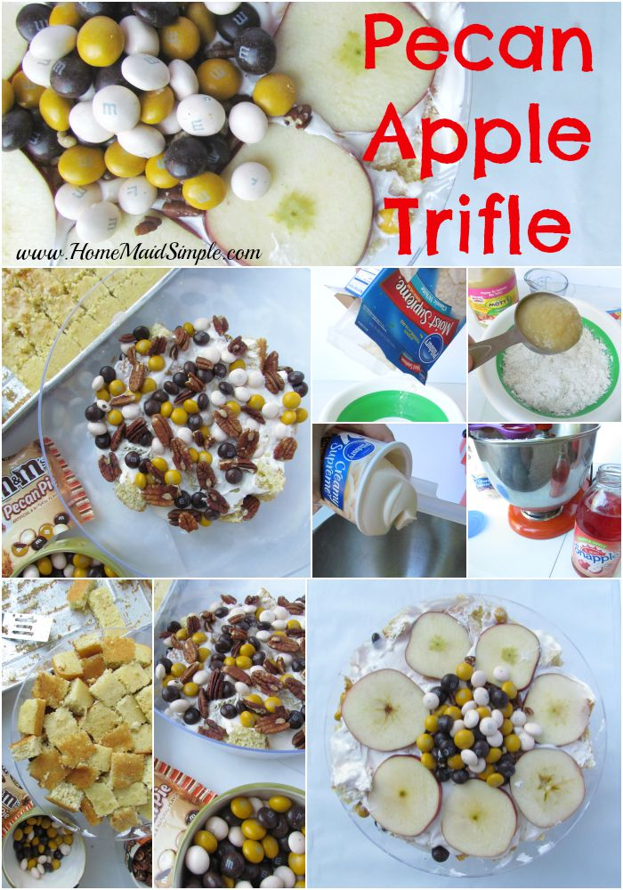 Put together a Pecan Apple Trifle for fall company #BakeInTheFun ad