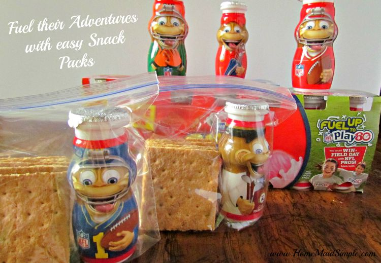 Easy Snack packs for on the go fun with Dannon® Danimals® #FuelTheirAdventures ad