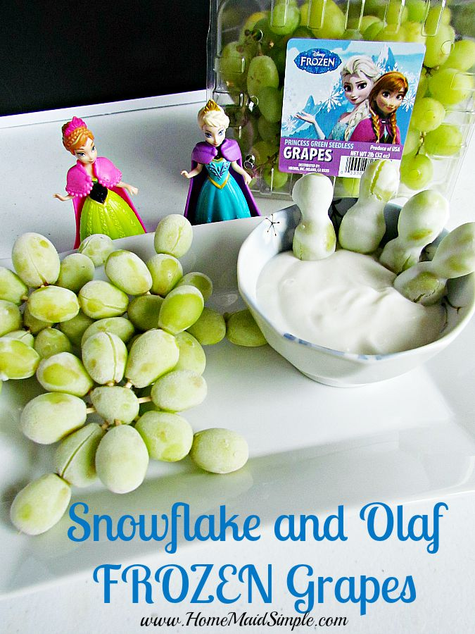 Snowflake and Olaf FROZEN grapes #DisneyFROZENGoesFresh ad