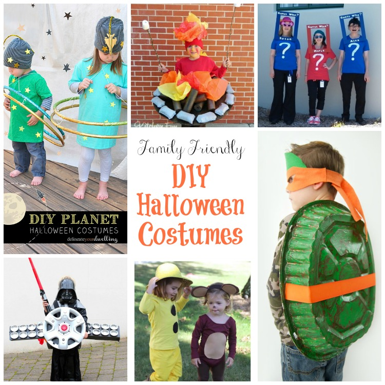 Skip the stores and make your own DIY Halloween Costumes this year. Grab inspiration from these family friendly costumes.