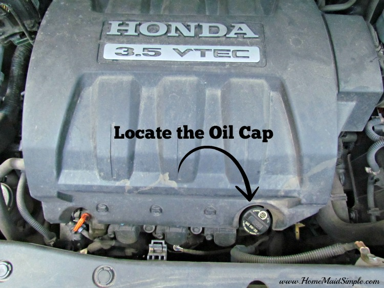 Locate oil cap for good air flow #DIYOilChange ad #cbias