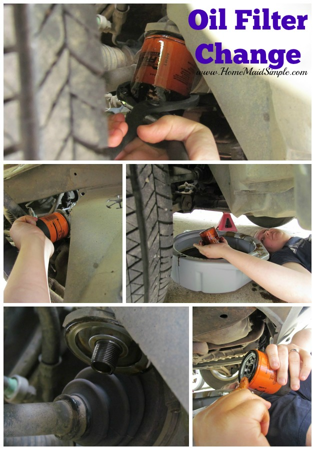Change the Oil filter with your #DIYOilChange ad #cbias