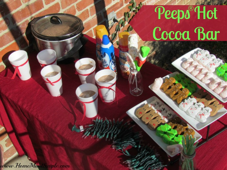 Decorate for Christmas while enjoying a Peeps® Hot Cocoa Bar + WIN a Package of Holiday PEEPS®