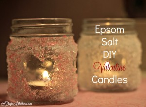 Epsom Salt Candles from A Day In Motherhood