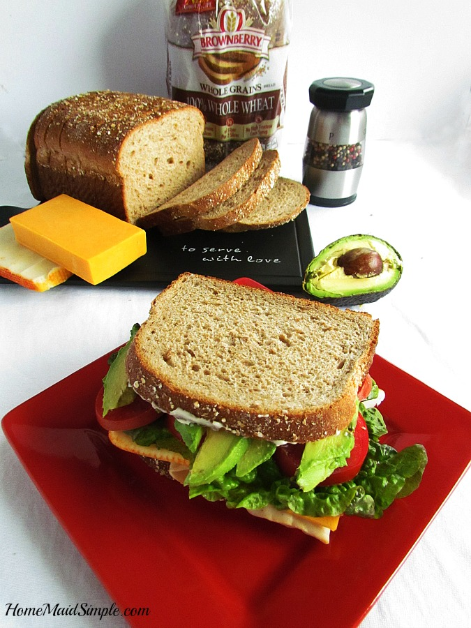 This is my husbands ultimate Sandwich! He even loved it on Brownberry® Whole Grain 100% Whole Wheat Bread