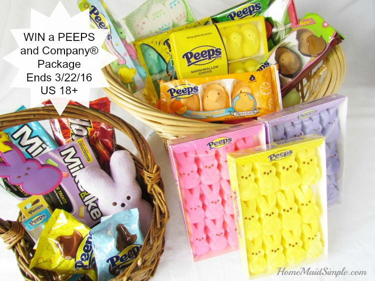 WIN a PEEPS & Company® Easter Package ends 3/22/16 US only